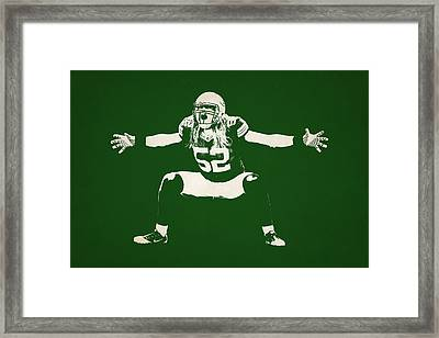 Green Bay Packers Shadow Player Framed Print by Joe Hamilton