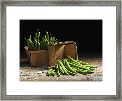 Green Beans In Baskets Quebec, Canada Framed Print
