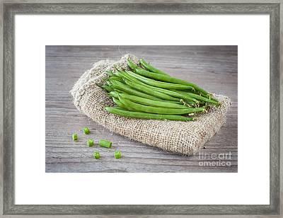 Green Beans Framed Print by Sabino Parente