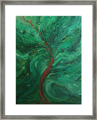 Green Bliss Framed Print