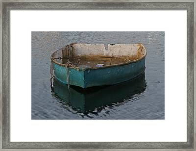 Green Boat Framed Print by Juergen Roth