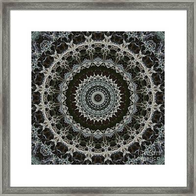 Green Brown Mandala Framed Print by Kathi Shotwell