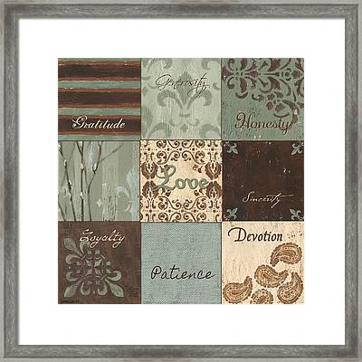 Green Brown Wtlb 1 Framed Print by Debbie DeWitt