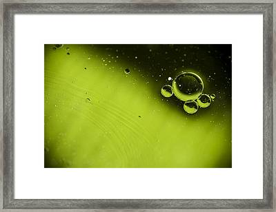Green Bubble Framed Print by Samuel Whitton