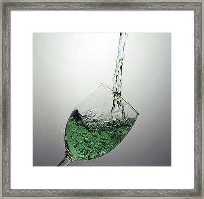 Green Bubbly Framed Print by John Hoey