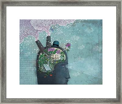 Green Business Framed Print