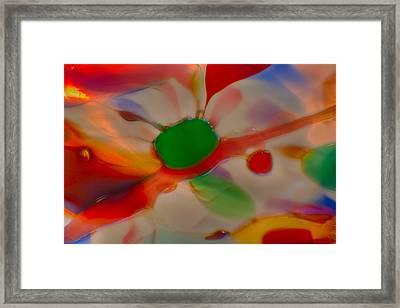 Green Butterfly Framed Print by Omaste Witkowski