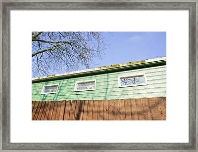 Green Cabin Framed Print by Tom Gowanlock