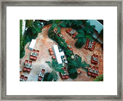Green Cafe Framed Print by Richie Stewart