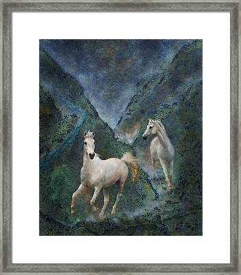 Green Canyon Run Framed Print by Melinda Hughes-Berland