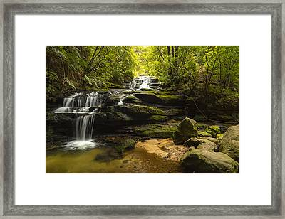 Green Cascades Framed Print