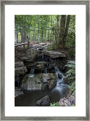 Green Cave Cascade Framed Print