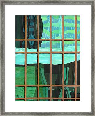 Green Central Framed Print