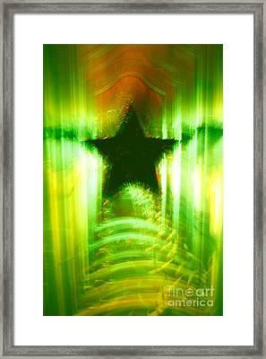 Green Christmas Star Framed Print by Gaspar Avila