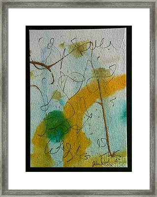 Green Circle Abstract Framed Print by Gloria Cooper