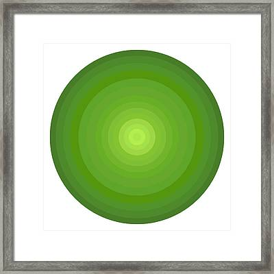 Green Circles Framed Print by Frank Tschakert