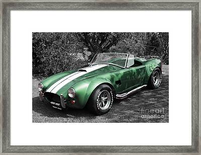 Green Cobra Framed Print