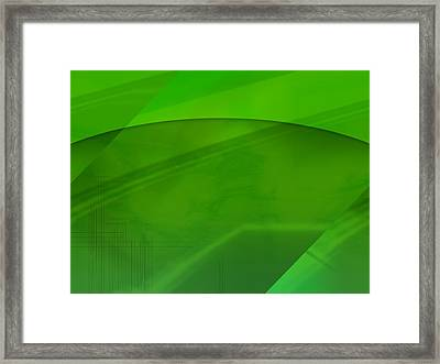 Green Computer Generated Background Framed Print by Tim Antoniuk