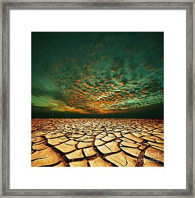 Green Dead Valley Framed Print by Boon Mee