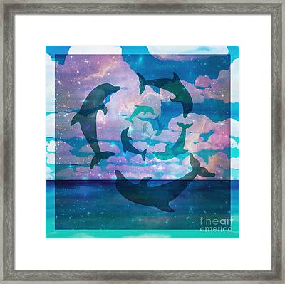 Green Dolphin Dance Framed Print