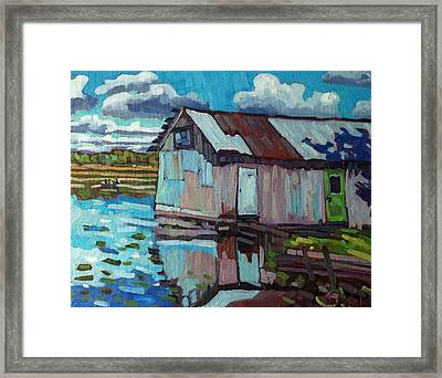 Green Door B And B Framed Print by Phil Chadwick