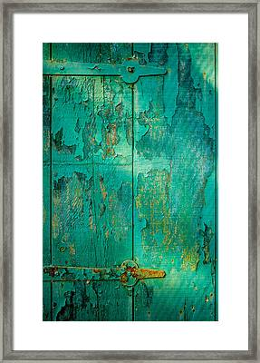 Green Door - Carmel By The Sea Framed Print