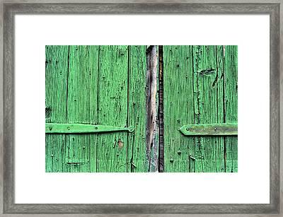 Green Door Framed Print by Steve Archbold