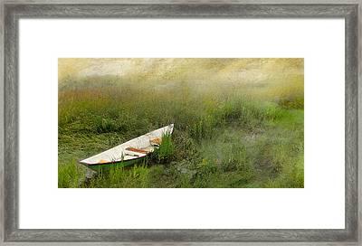 Green Dory Framed Print by Karen Lynch
