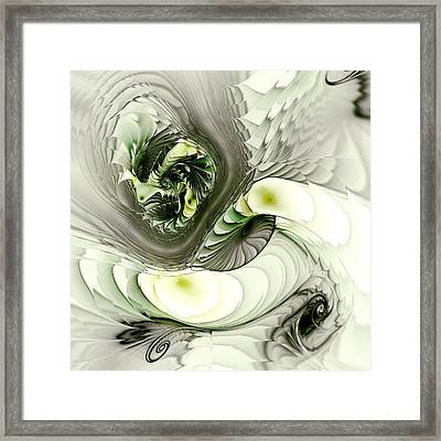 Green Dragon Framed Print by Anastasiya Malakhova