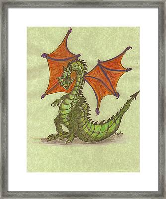 Green Dragon Framed Print