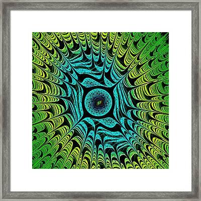 Green Dragon Eye Framed Print by Anastasiya Malakhova