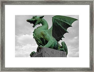 Green Dragon In Ljubljana Framed Print by Aleksandar Hajdukovic