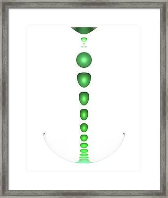 Green Drop Framed Print by Anastasiya Malakhova