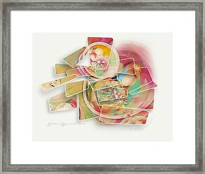 Green Eggs And Ham Framed Print by Gayle Odsather