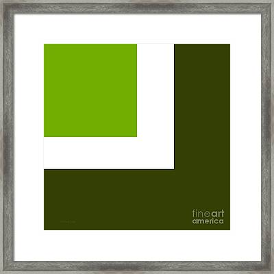 Green Eggs And Ham Square Framed Print
