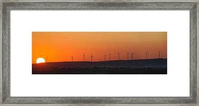 Green Energy Framed Print by Stelios Kleanthous