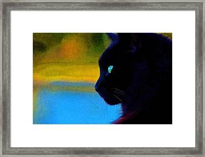 Green Eye Framed Print by Pamela Blizzard