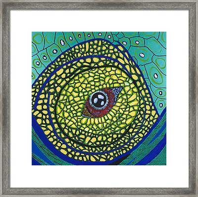 Green Eye Framed Print by Patrick OLeary