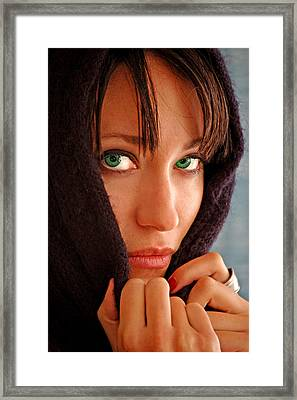 Green Eyed Beauty Framed Print