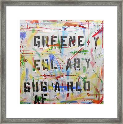 Green Eyed Lady Framed Print