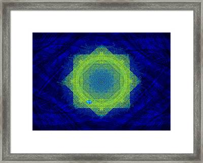 Green Eyed Weave Framed Print by Mathilde Vhargon