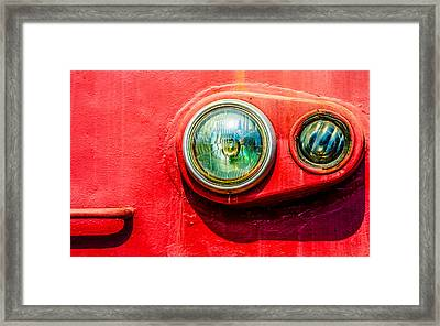 Green Eyes Of The Red Train Framed Print