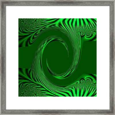 Green Fabric Framed Print