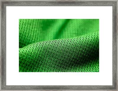 Green Fabric Framed Print by Tom Gowanlock