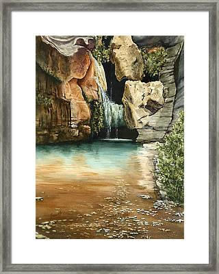 Green Falls II Framed Print