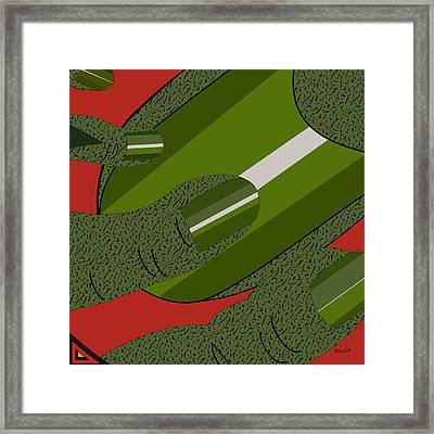 Green Fickle Fingers Of Faith Framed Print