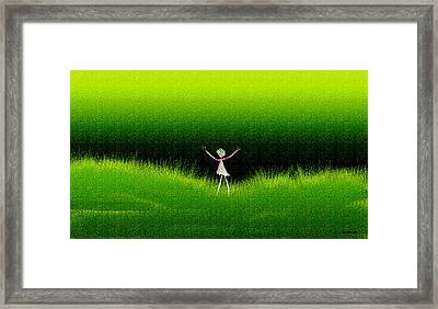 Green Field Framed Print