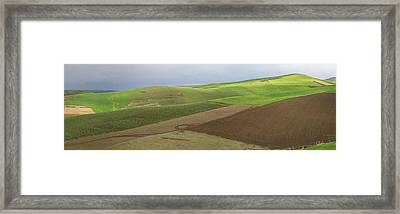 Green Fields Near Fes, Moulay Yacoub Framed Print by Panoramic Images