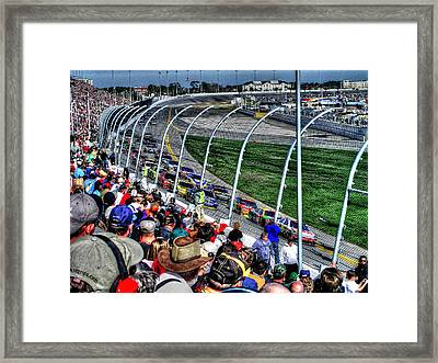Green Flag 2010 Daytona 500 Framed Print