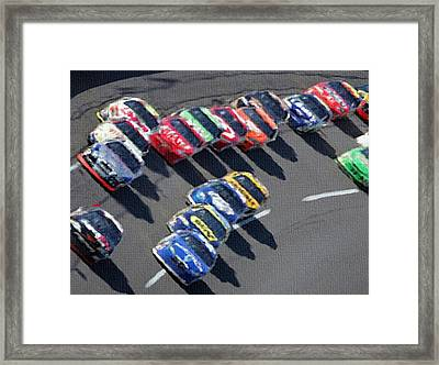Green Flag Drops Framed Print